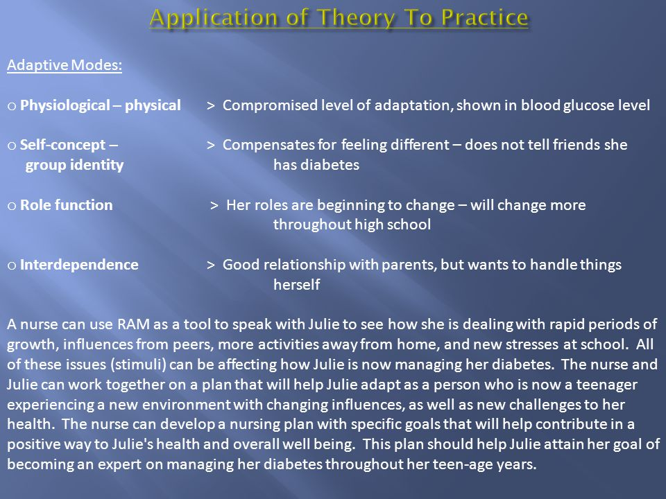 Application of Theory To Practice