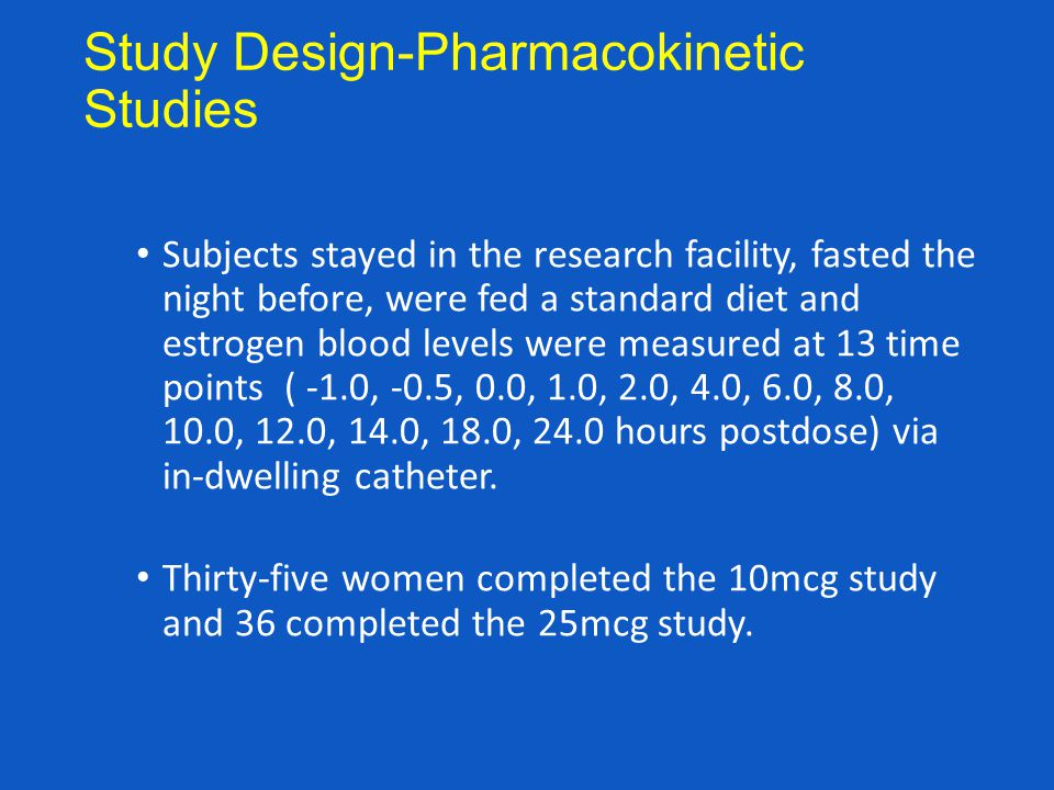Study Design-Pharmacokinetic Studies