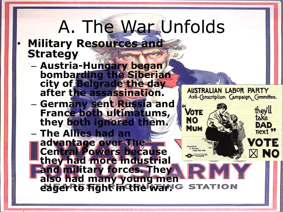 A. The War Unfolds Military Resources and Strategy