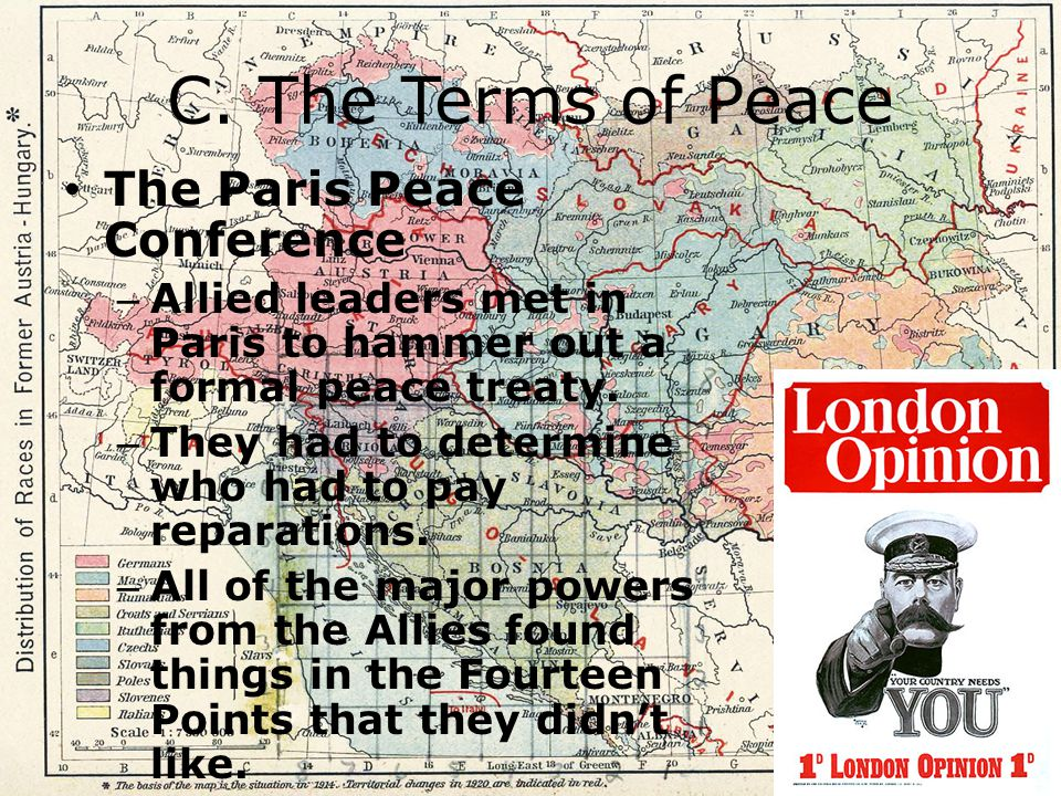 C. The Terms of Peace The Paris Peace Conference