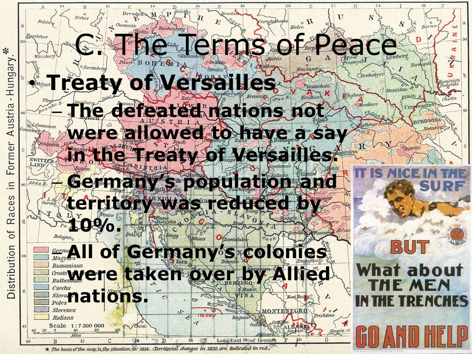 C. The Terms of Peace Treaty of Versailles