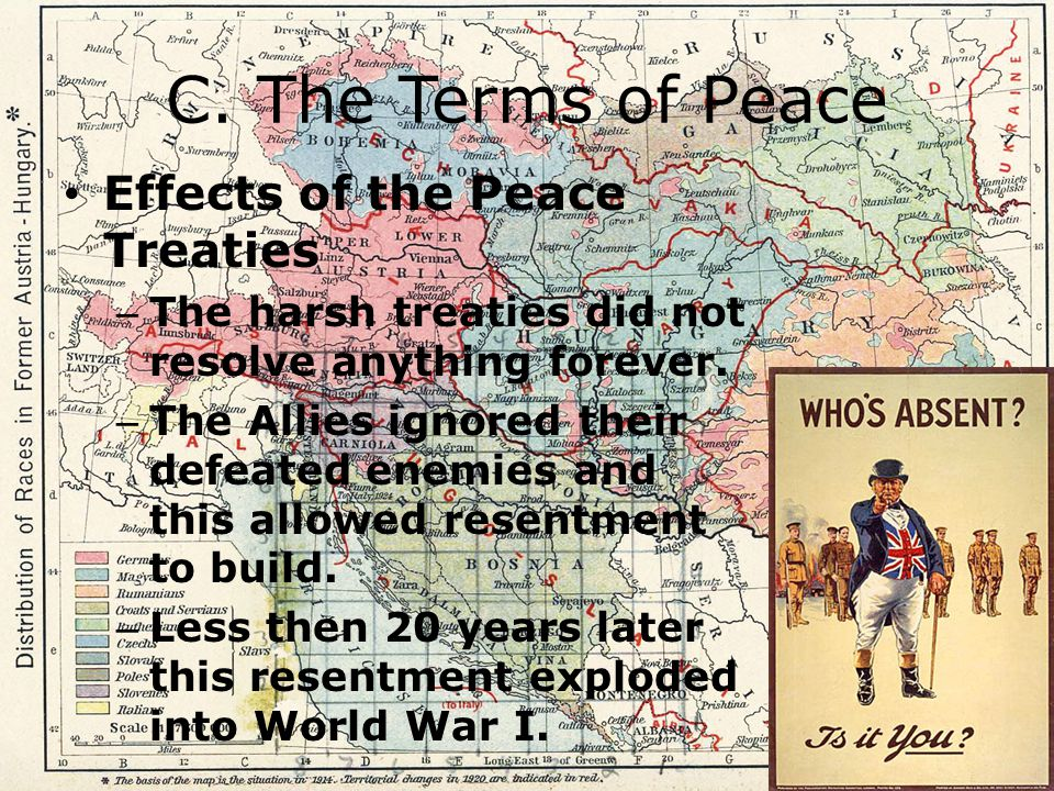 C. The Terms of Peace Effects of the Peace Treaties
