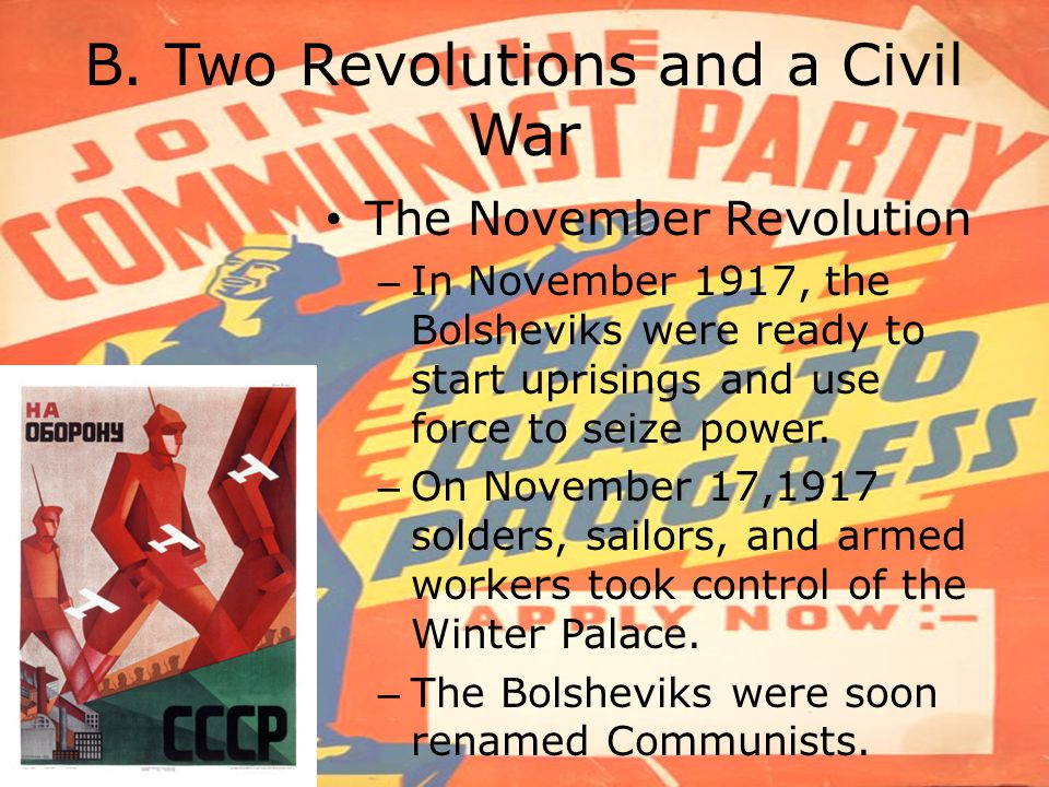 B. Two Revolutions and a Civil War