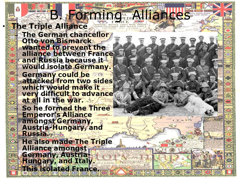 B. Forming Alliances The Triple Alliance
