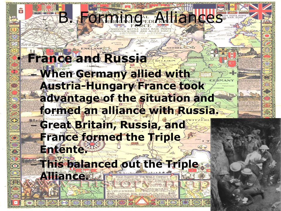 B. Forming Alliances France and Russia