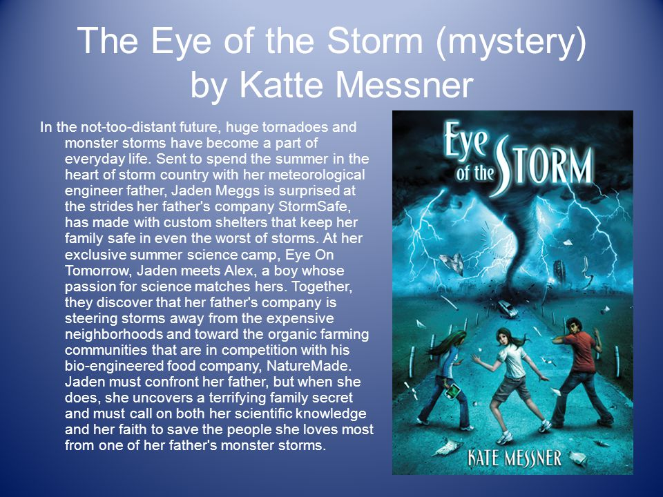 The Eye of the Storm (mystery) by Katte Messner