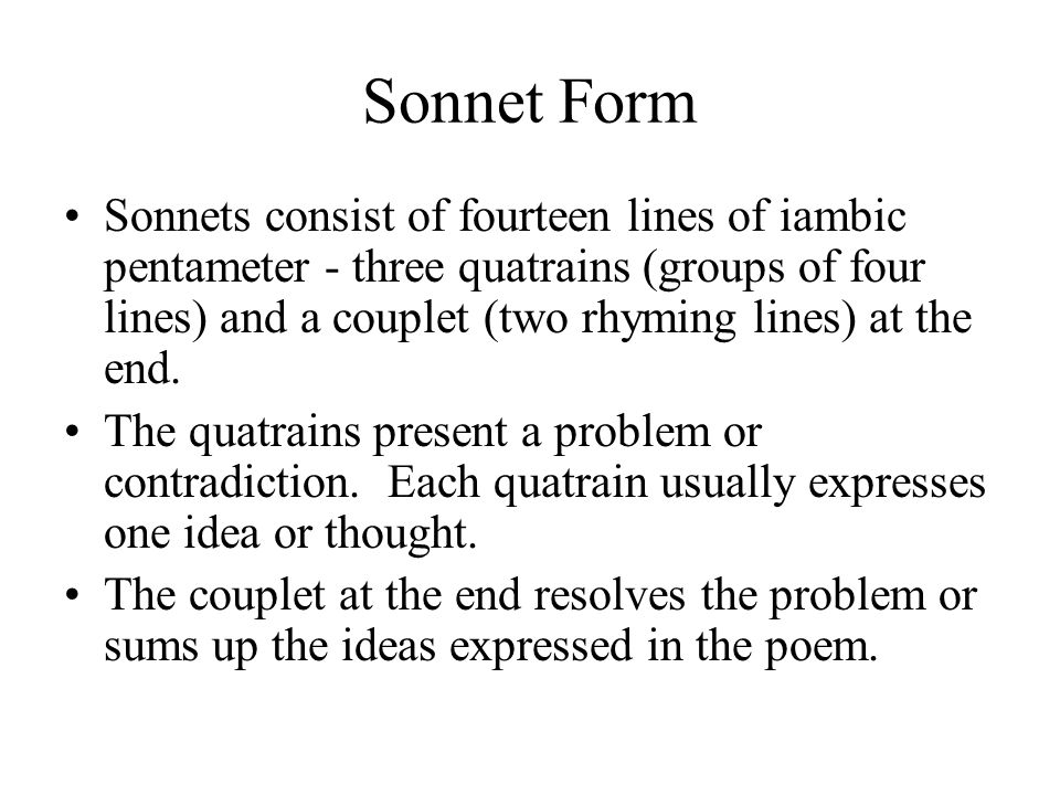 Sonnet Form