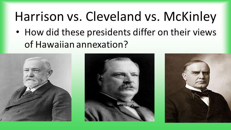 Harrison vs. Cleveland vs. McKinley