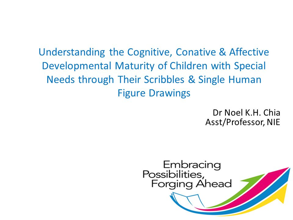 Understanding the Cognitive, Conative & Affective Developmental Maturity of Children with Special Needs through Their Scribbles & Single Human Figure Drawings