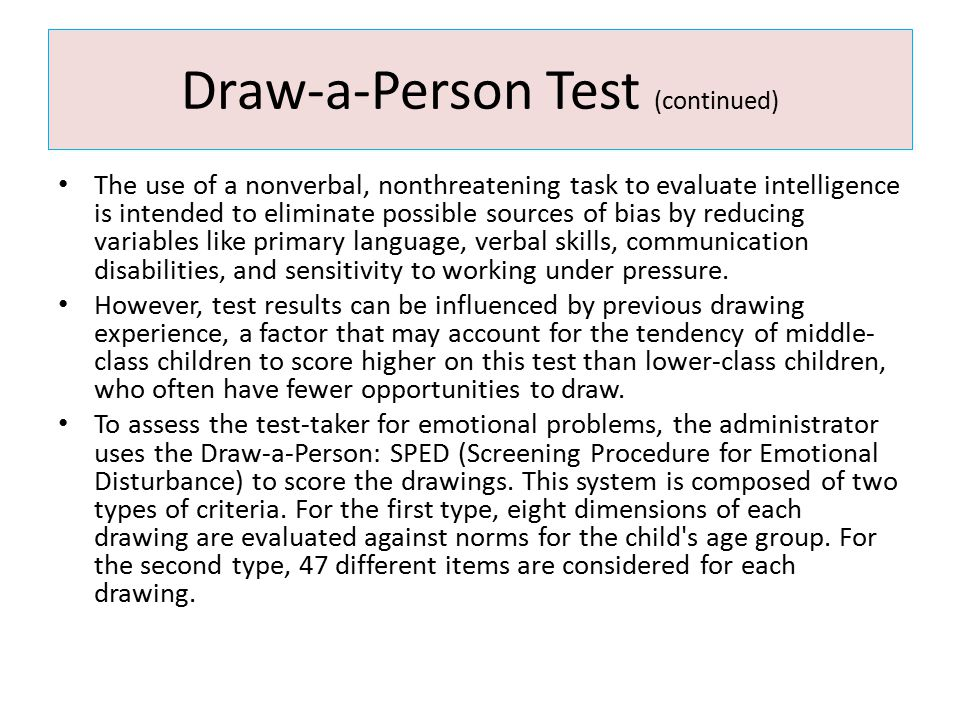 Draw-a-Person Test (continued)