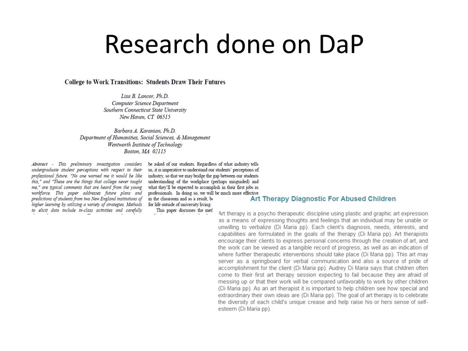 Research done on DaP