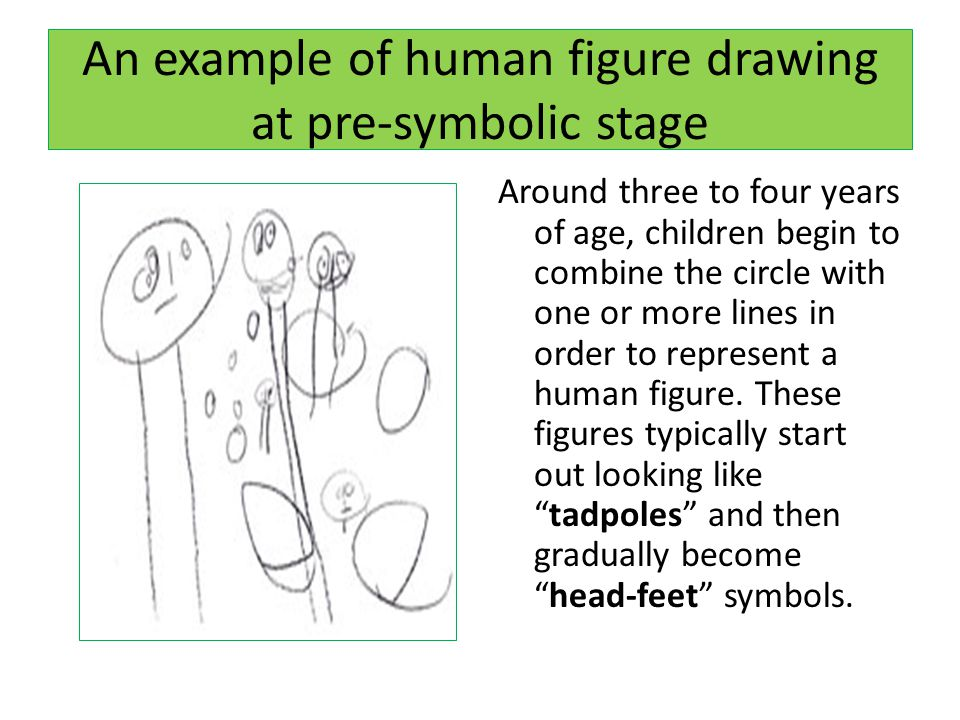 An example of human figure drawing at pre-symbolic stage