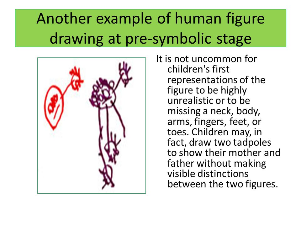 Another example of human figure drawing at pre-symbolic stage
