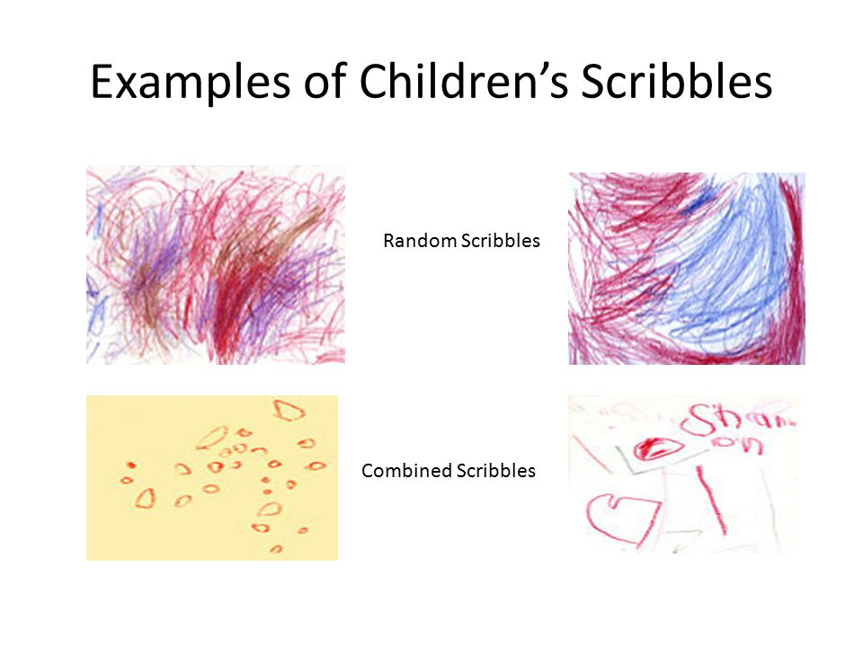 Examples of Children's Scribbles