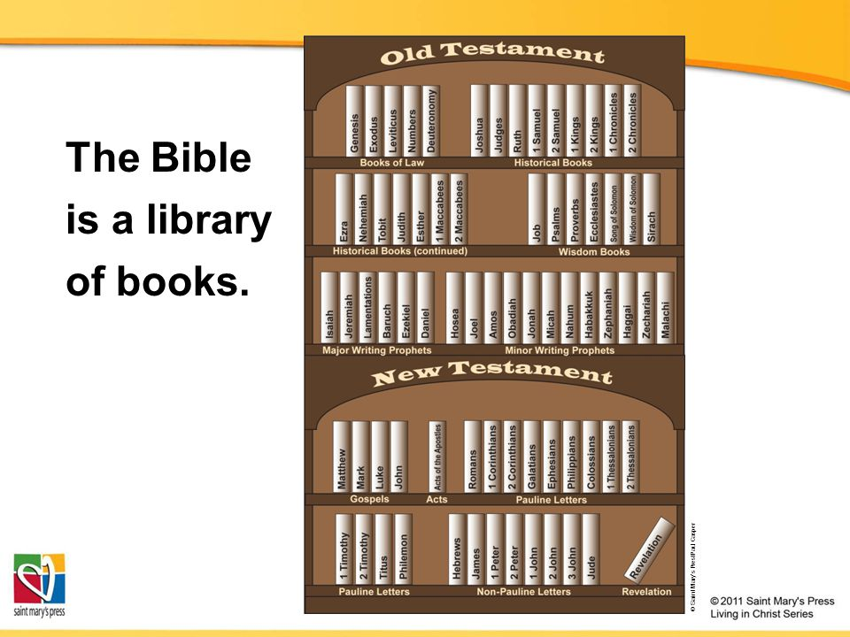 The Bible is a library of books.