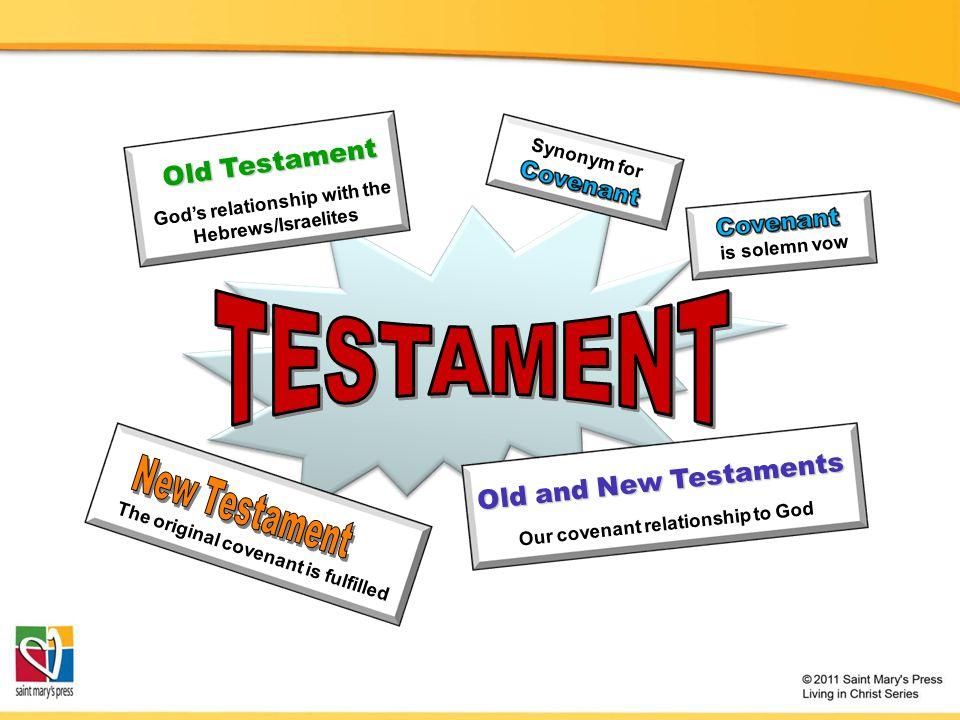 TESTAMENT Old Testament Old and New Testaments New Testament