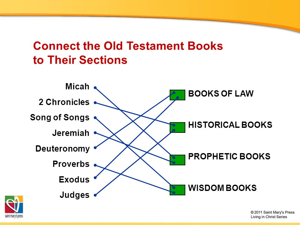 Connect the Old Testament Books to Their Sections