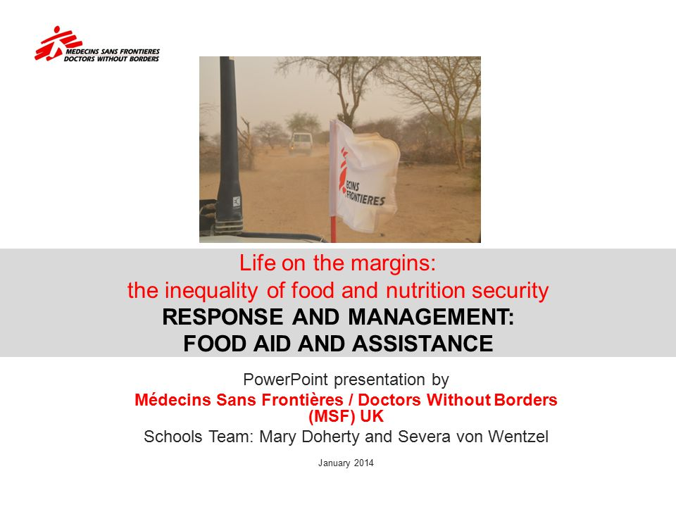 Médecins Sans Frontières / Doctors Without Borders (MSF) UK