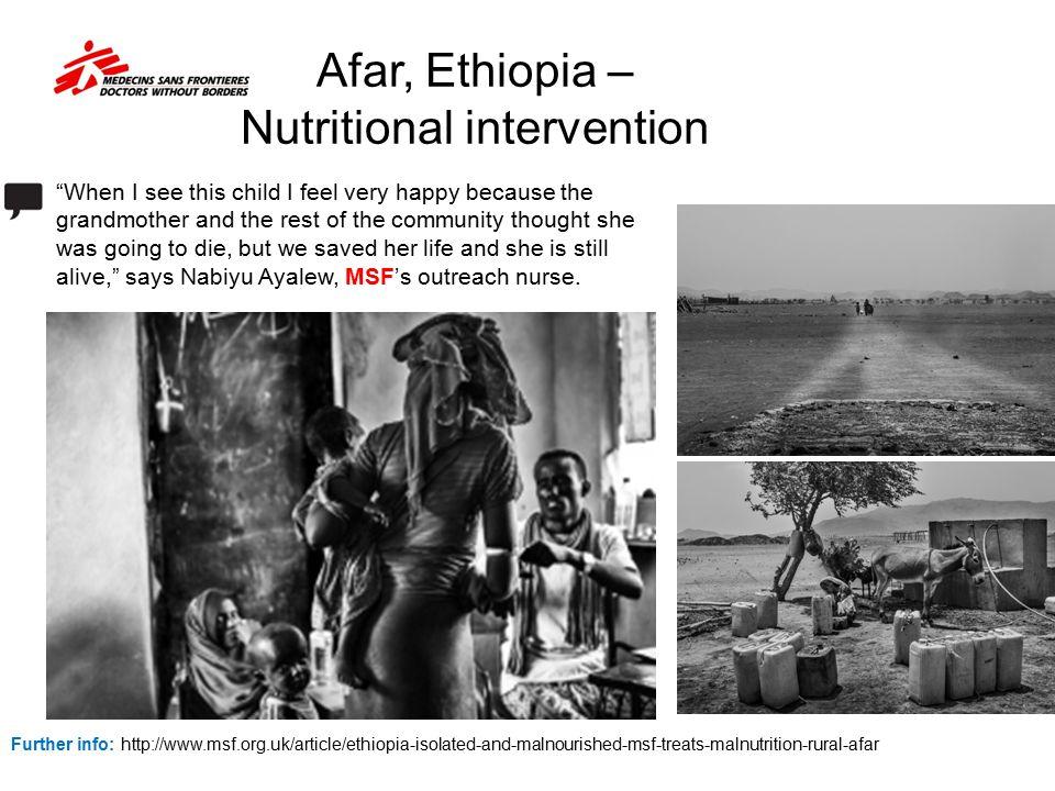 Afar, Ethiopia – Nutritional intervention