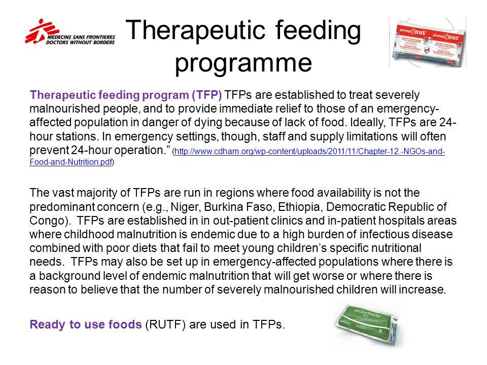 Therapeutic feeding programme