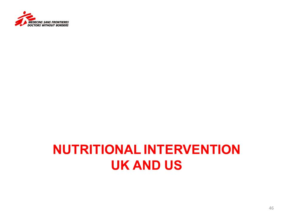 Nutritional intervention UK AND US