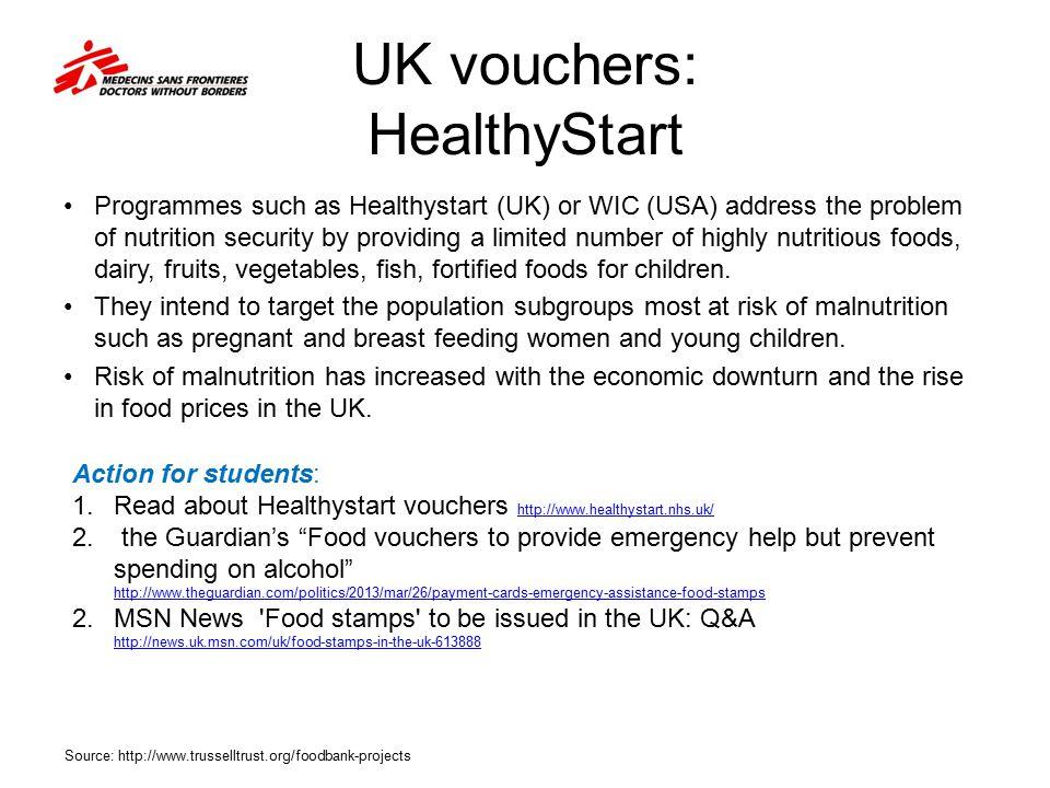 UK vouchers: HealthyStart