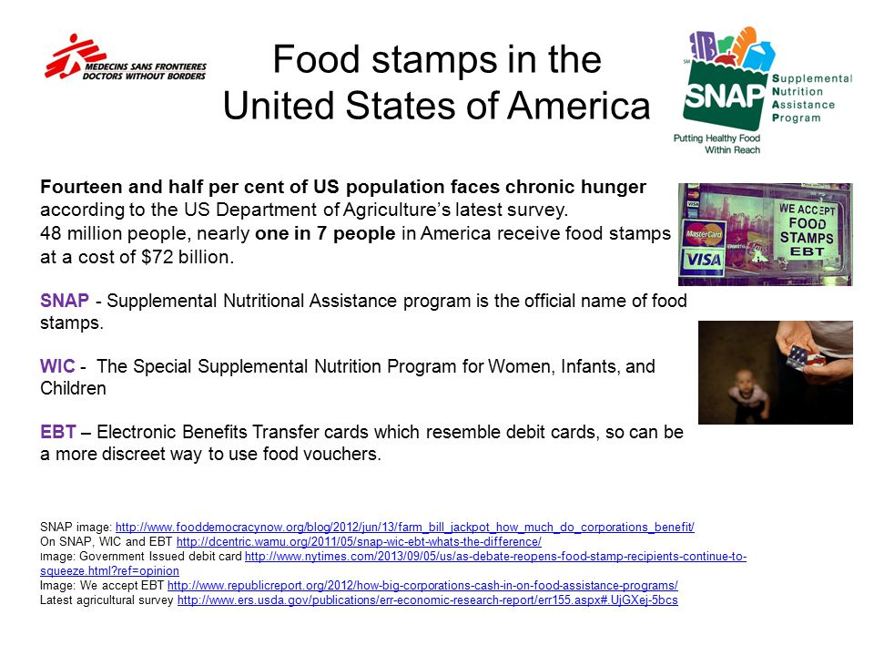 Food stamps in the United States of America