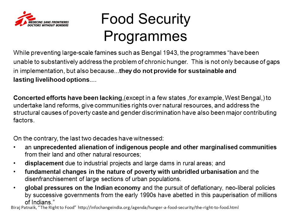 Food Security Programmes