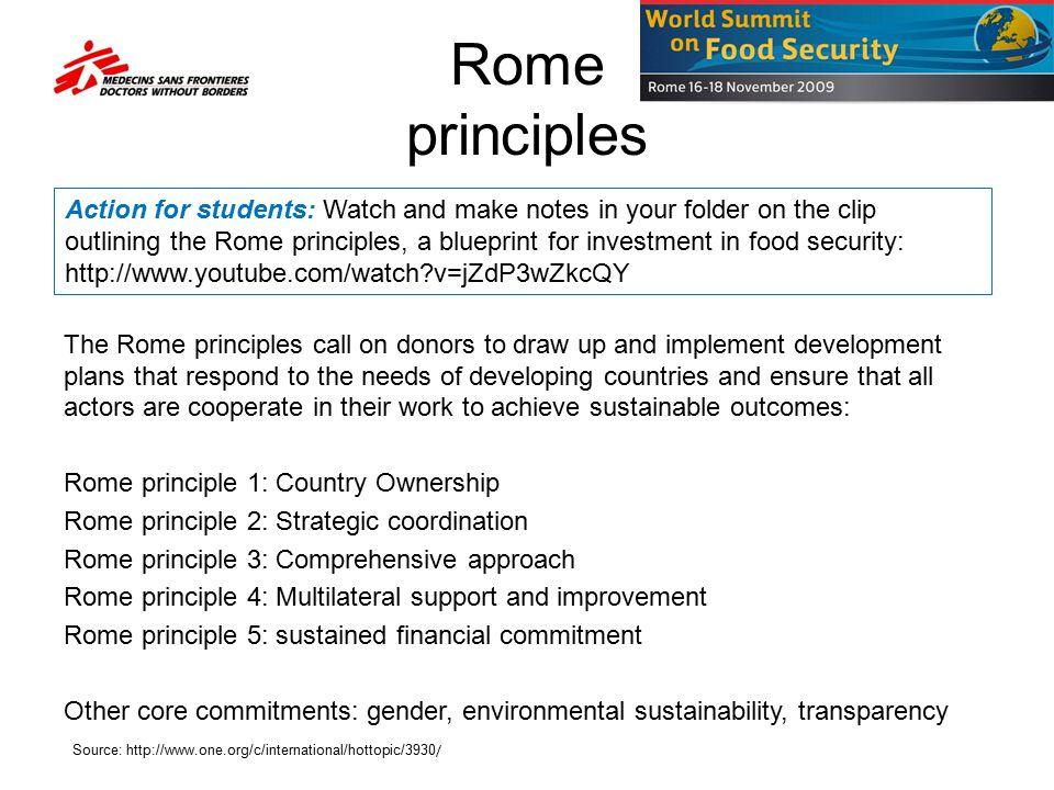 Rome principles