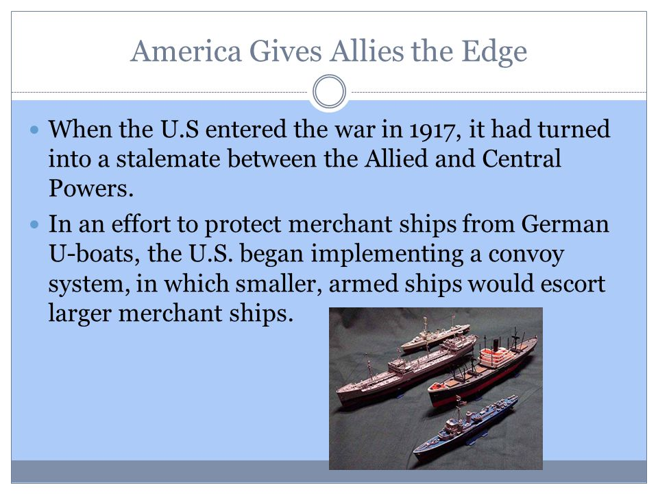 America Gives Allies the Edge