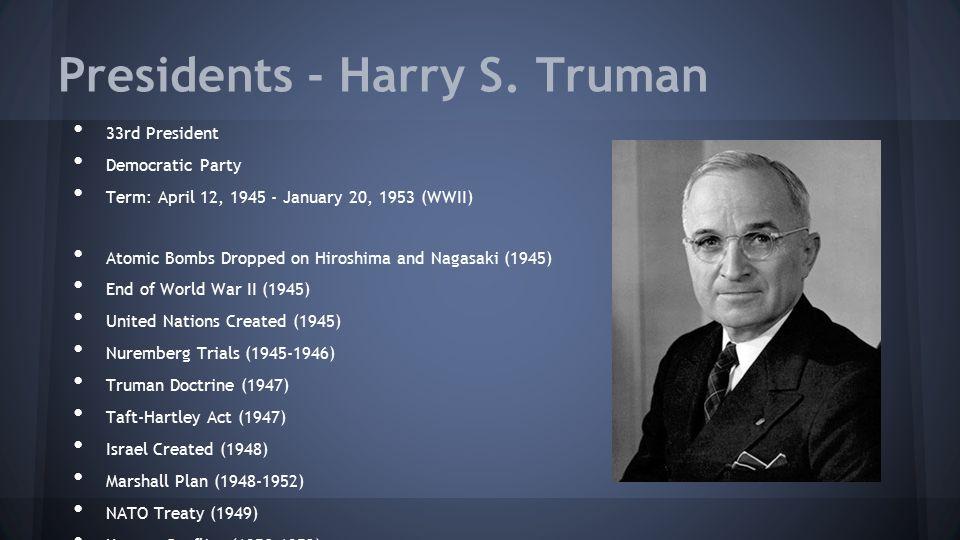 Presidents - Harry S. Truman