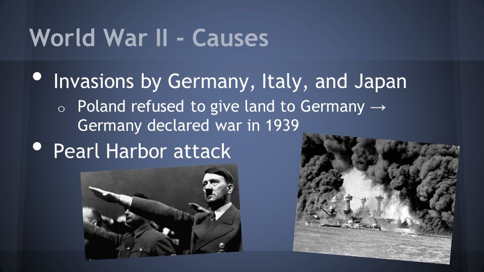 World War II - Causes Invasions by Germany, Italy, and Japan