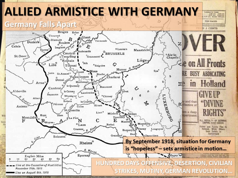 Allied Armistice with germany