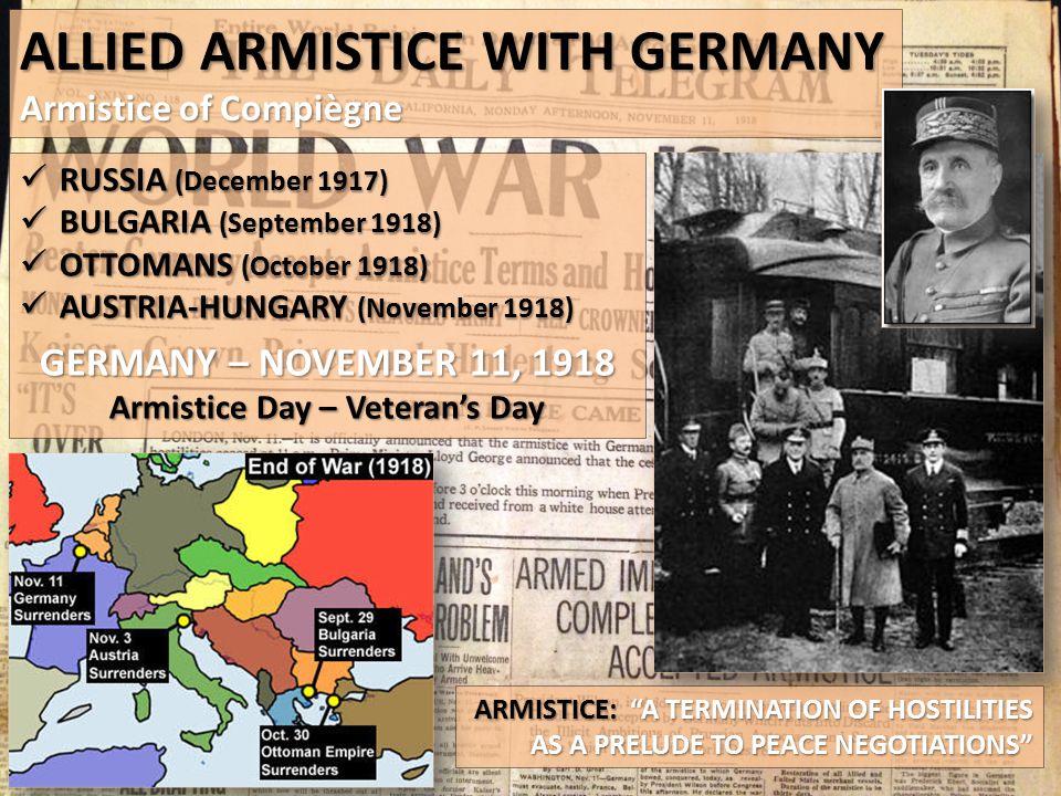 Armistice Day – Veteran's Day
