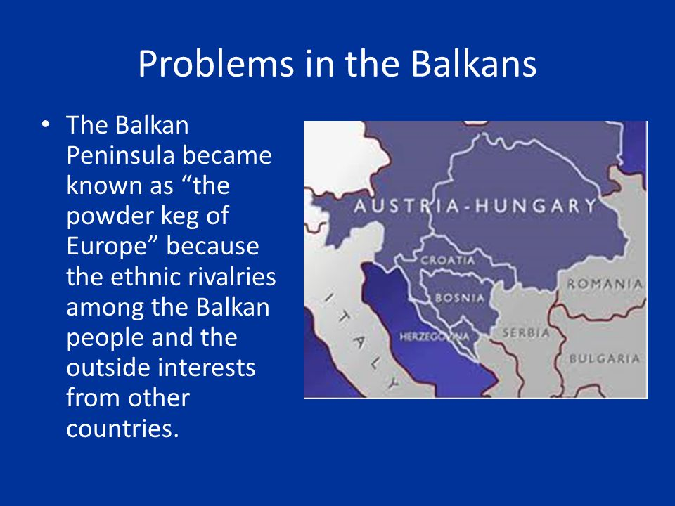 Problems in the Balkans