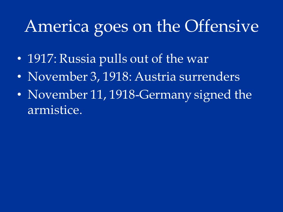 America goes on the Offensive