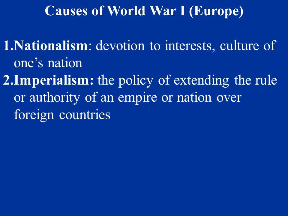 Causes of World War I (Europe)