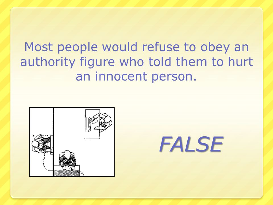 Most people would refuse to obey an authority figure who told them to hurt an innocent person.
