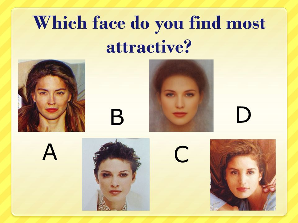 Which face do you find most attractive