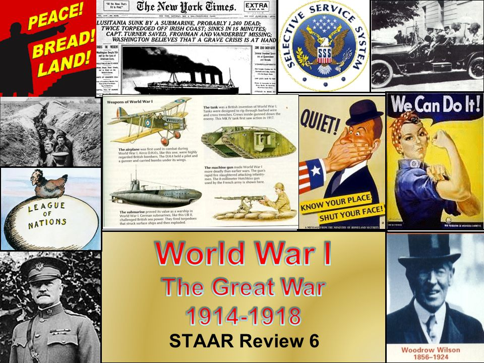 World War I The Great War 1914-1918 STAAR Review 6
