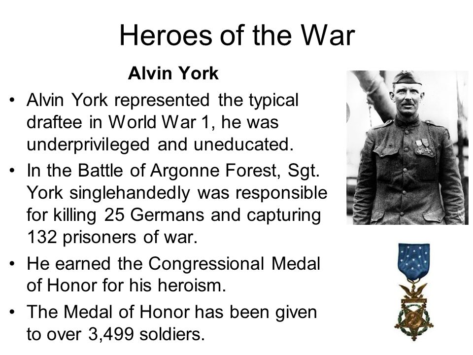 Heroes of the War Alvin York