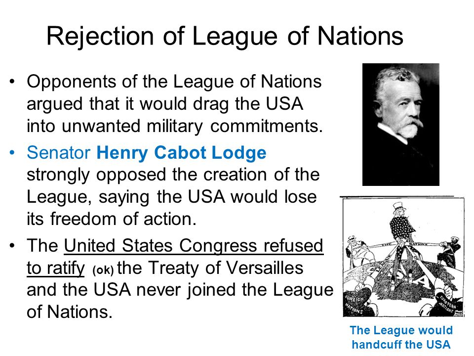 Rejection of League of Nations