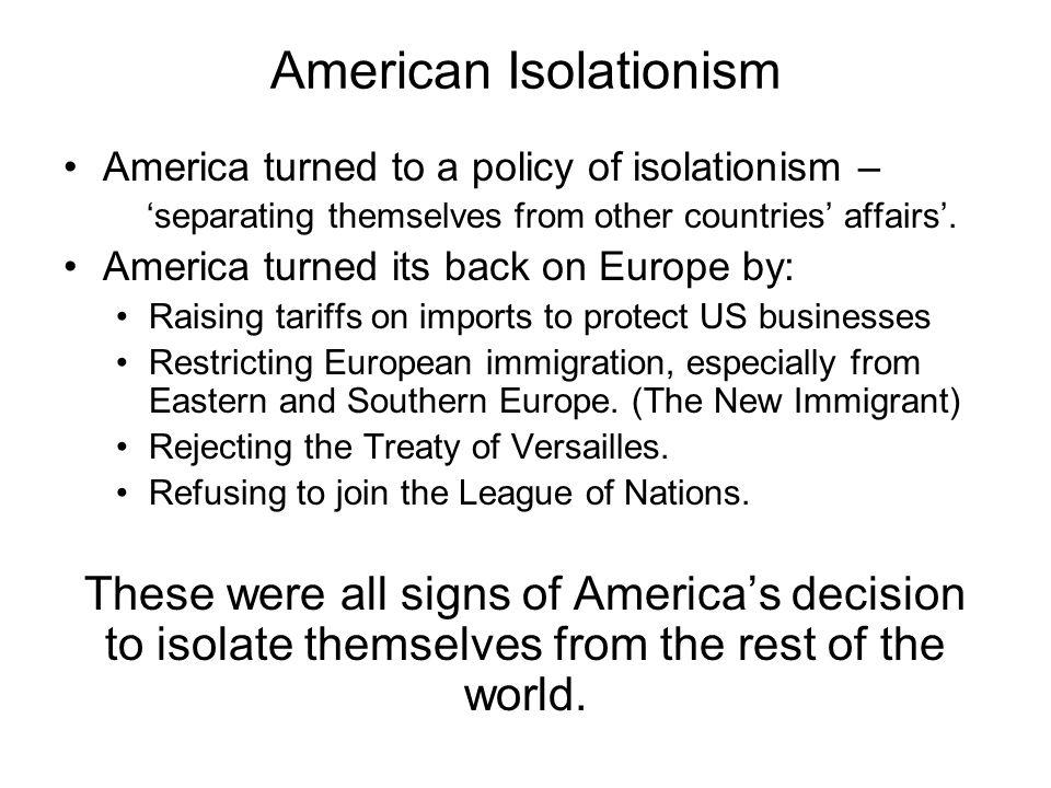 American Isolationism