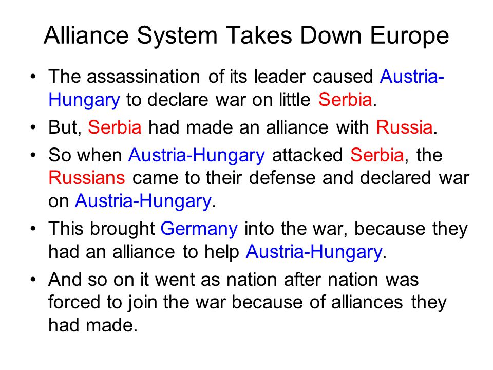 Alliance System Takes Down Europe