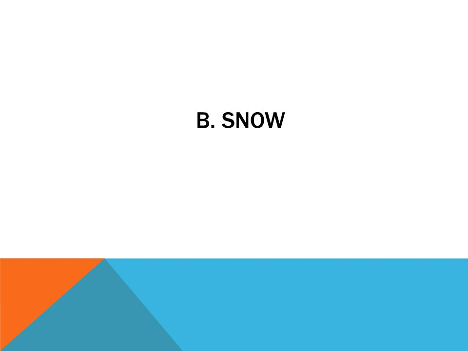 b. snow
