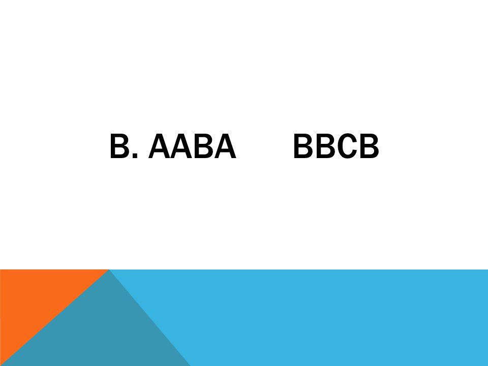 b. aaba bbcb