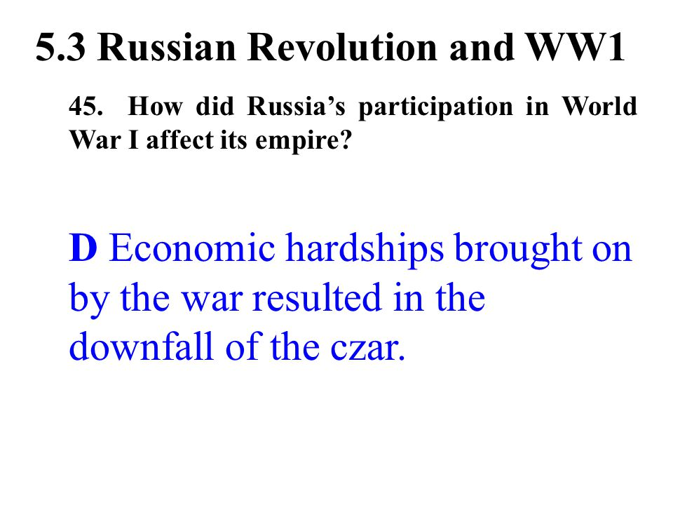 5.3 Russian Revolution and WW1