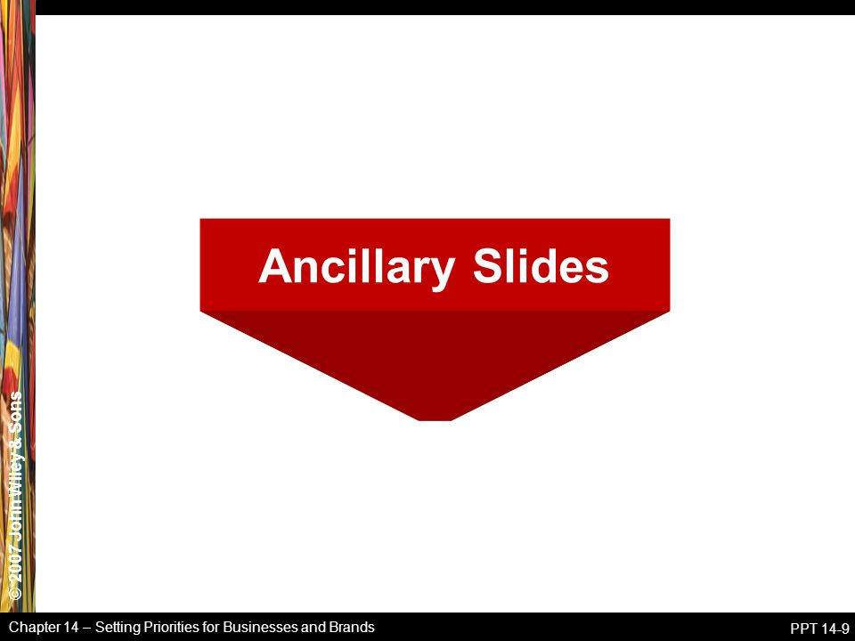 Ancillary Slides Chapter 14 – Setting Priorities for Businesses and Brands