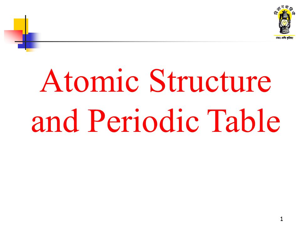 Atomic Structure And Periodic Table
