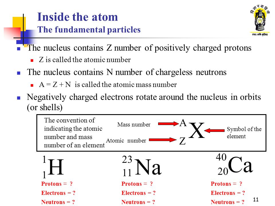 Inside the atom The fundamental particles